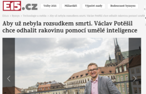 Read more about the article The end of a death sentence: Václav Potěšil wants to detect cancer using artificial intelligence